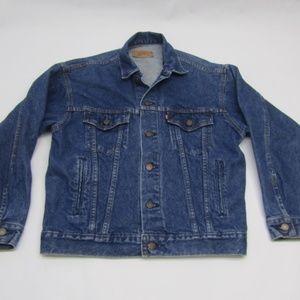Vtg Levi's Denim Trucker Jacket Made USA Levis S